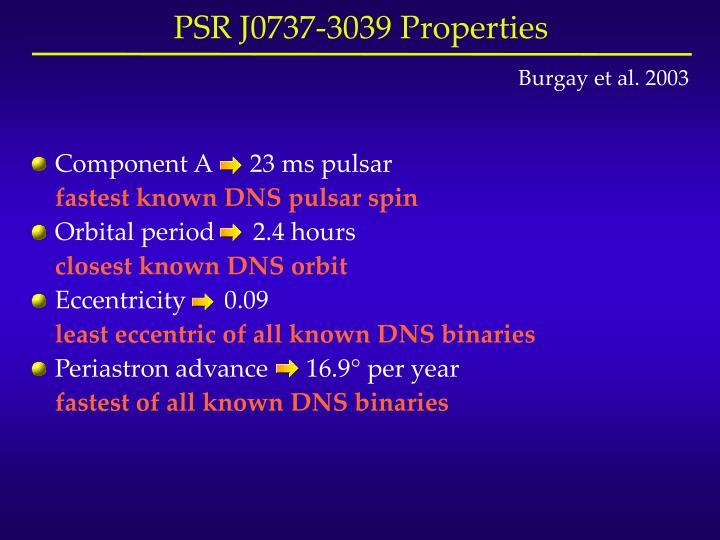 Component A      23 ms pulsar
