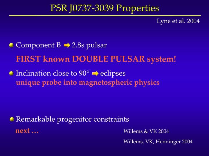Component B      2.8s pulsar