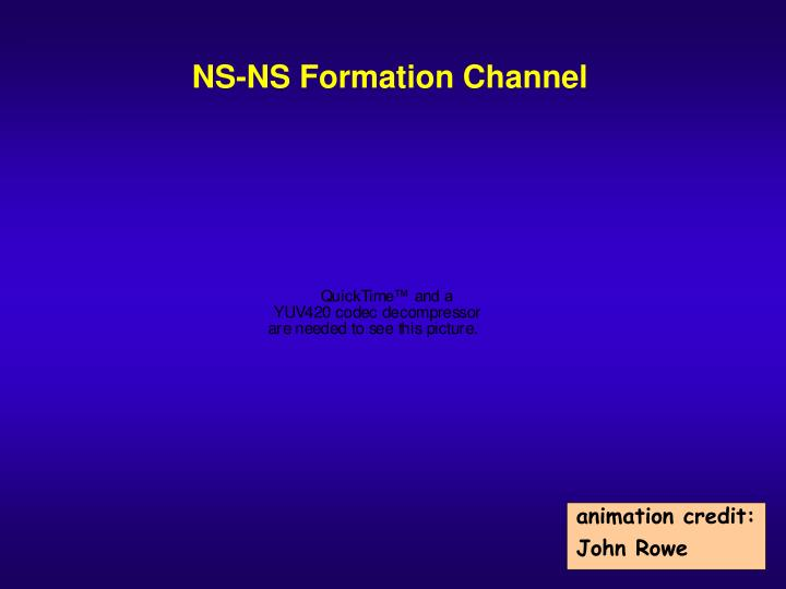 NS-NS Formation Channel