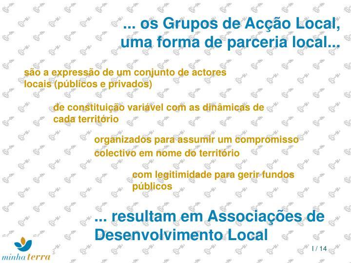 ... os Grupos de Acção Local,