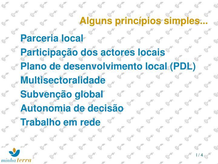 Alguns princípios simples...