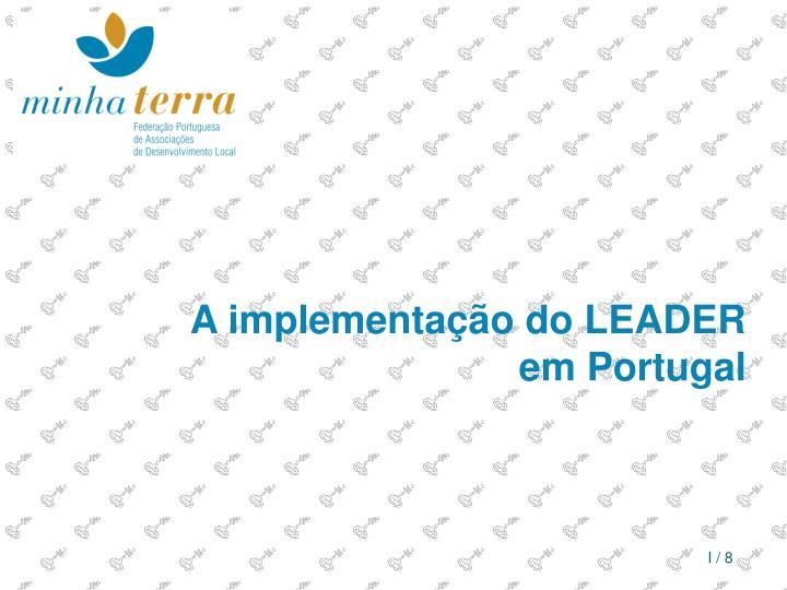 A implementação do LEADER