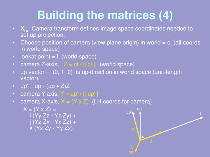 Building the matrices (4)