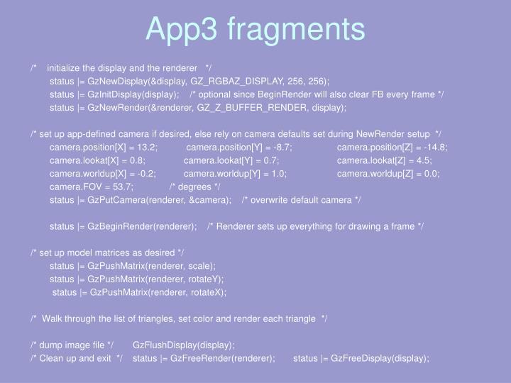 App3 fragments