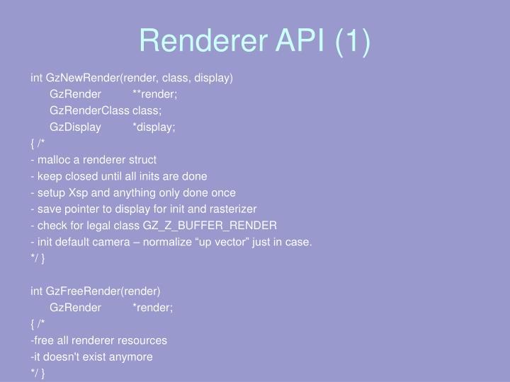 Renderer API (1)