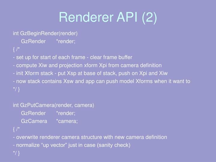 Renderer API (2)