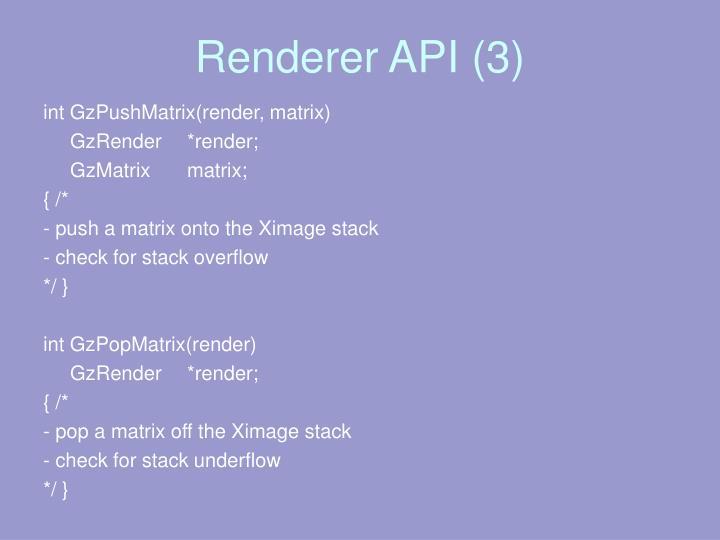 Renderer API (3)