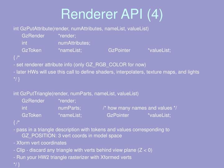 Renderer API (4)
