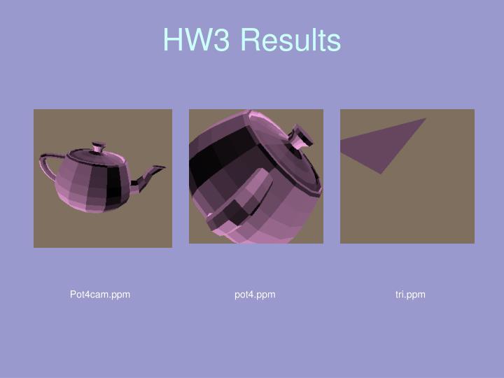HW3 Results