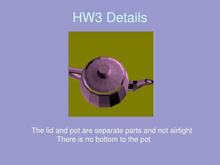 HW3 Details