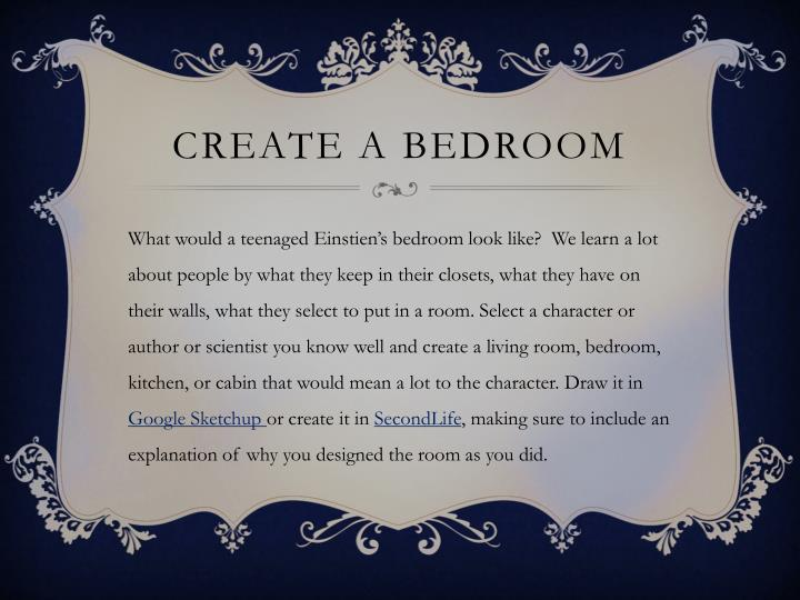 Create a bedroom
