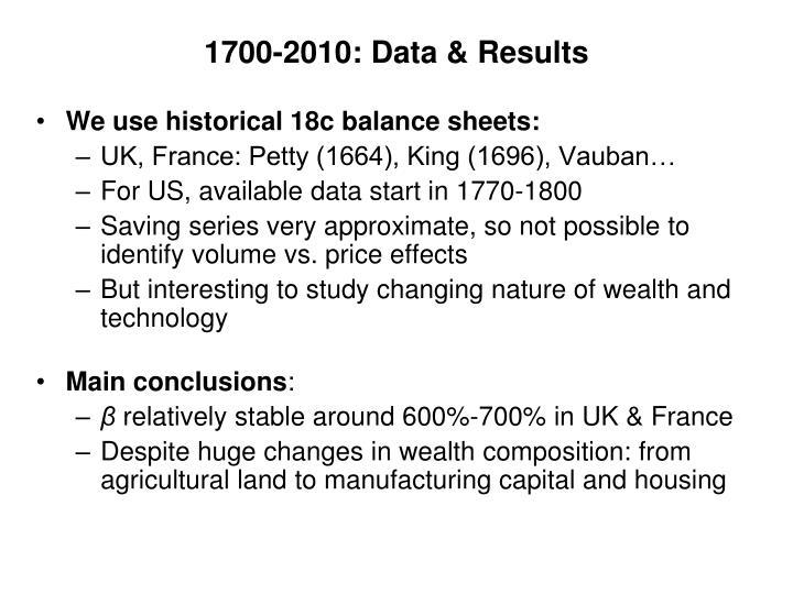 1700-2010: Data &