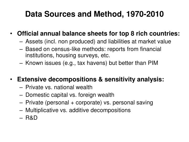 Data Sources and Method, 1970-2010