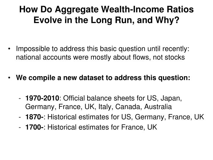 How Do Aggregate Wealth-Income Ratios Evolve in the Long Run, and Why?
