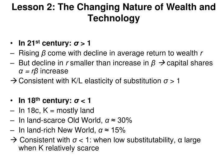 Lesson 2: The Changing Nature of Wealth and Technology