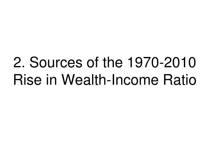 2. Sources of the 1970-2010 Rise in Wealth-Income Ratio