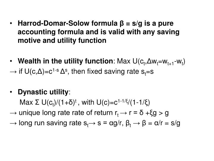 Harrod-Domar-Solow formula