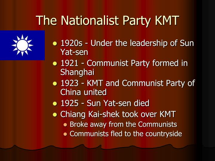 The Nationalist Party KMT