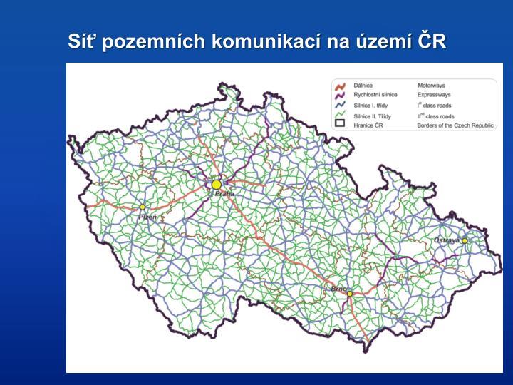 Síť pozemních komunikací na území ČR