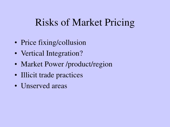 Risks of Market Pricing