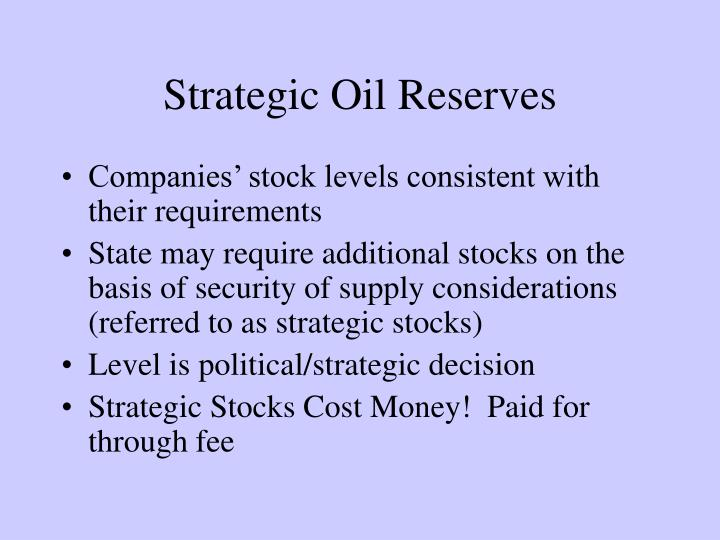 Strategic Oil Reserves