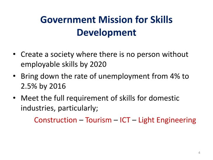 Government Mission for Skills Development