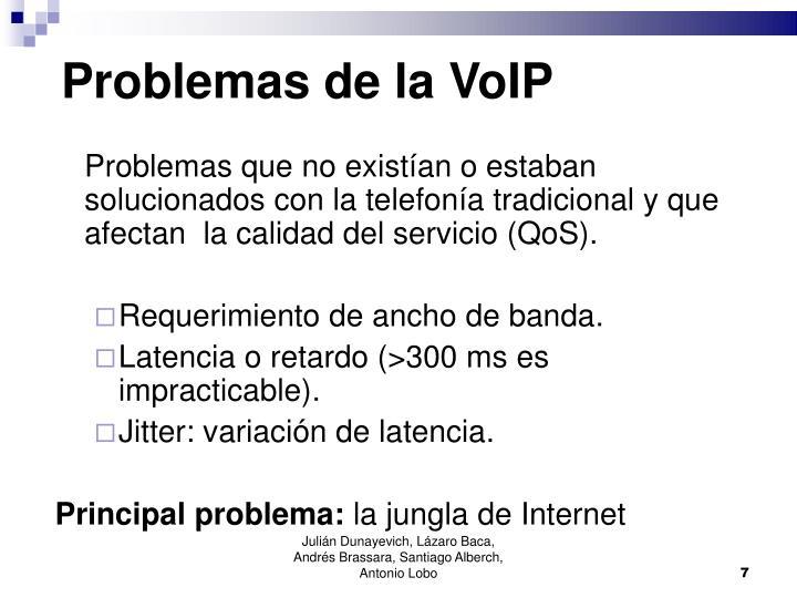 Problemas de la VoIP