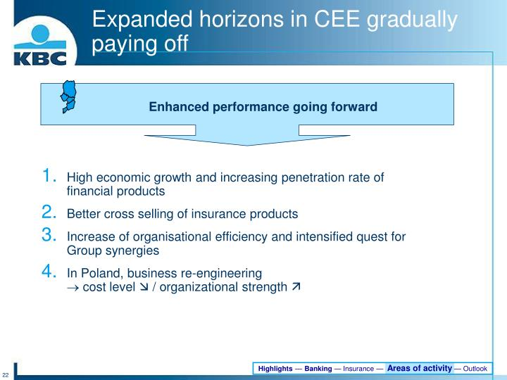 Expanded horizons in CEE