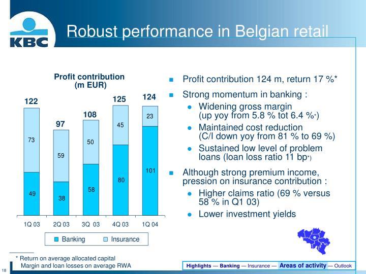 Profit contribution 124 m, return 17 %*