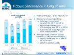 robust performance in belgian retail