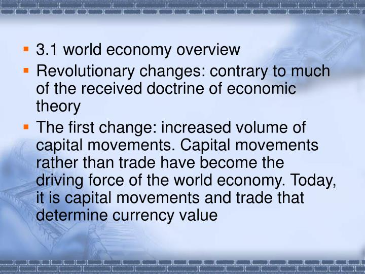 3.1 world economy overview