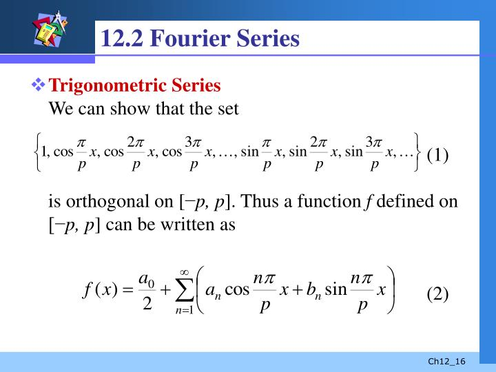 12.2 Fourier Series