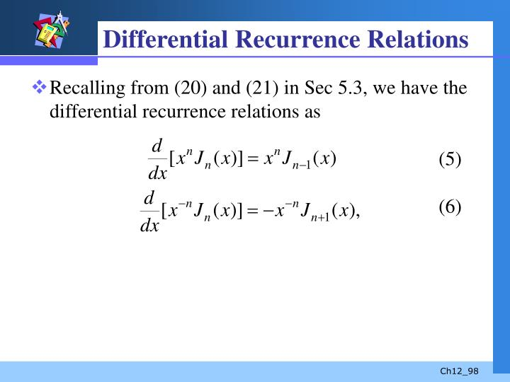 Differential Recurrence Relations