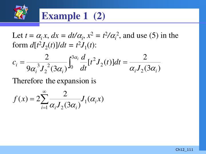 Example 1  (2)