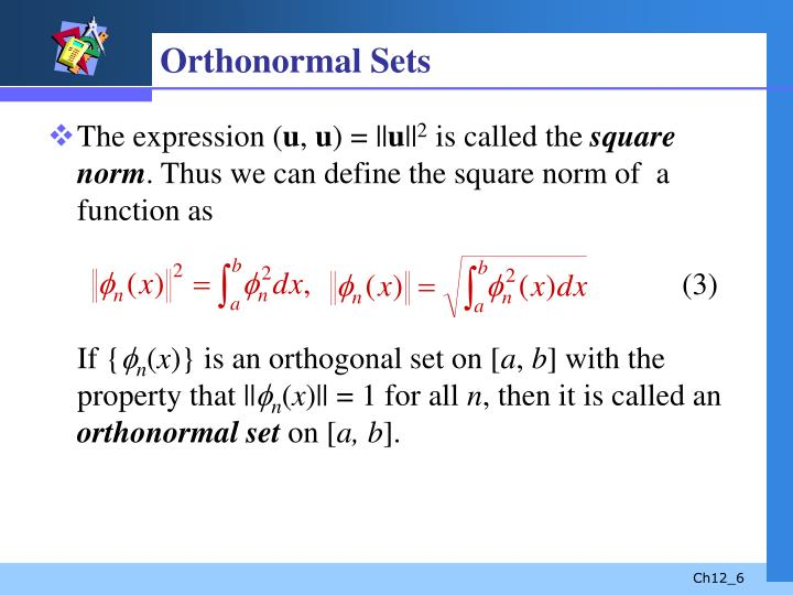 Orthonormal Sets
