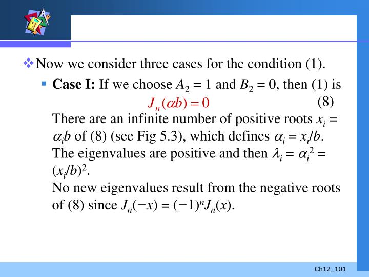 Now we consider three cases for the condition (1).