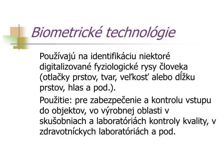 Biometrické technológie