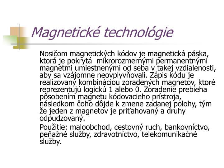 Magnetické technológie