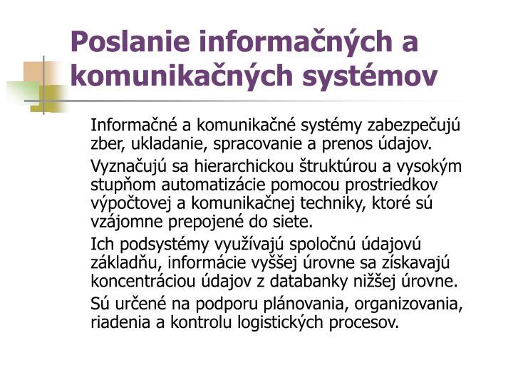 Poslanie informačných a komunikačných systémov