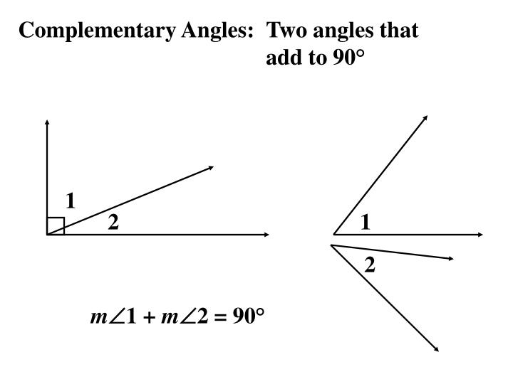 Complementary Angles:
