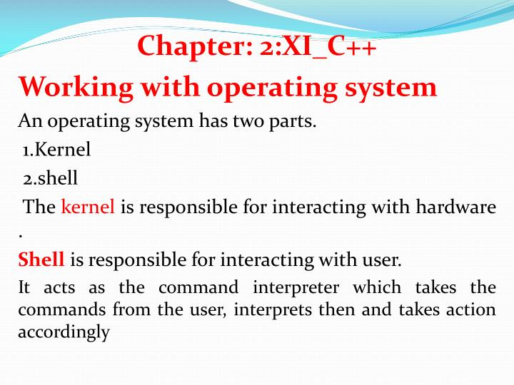 Chapter: 2:XI_C++