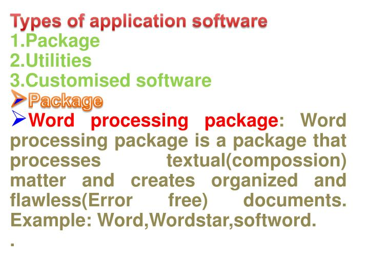 Types of application software