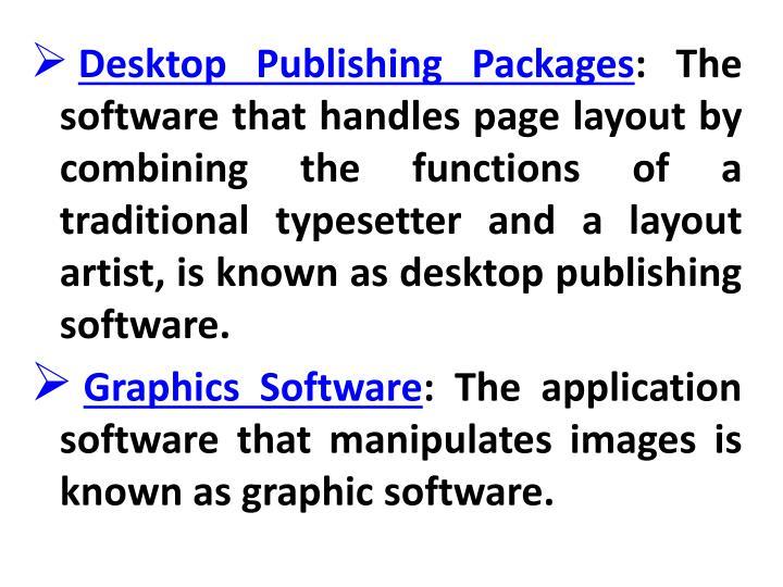 Desktop Publishing Packages