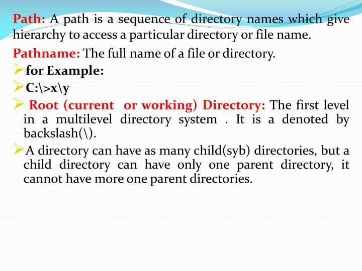 Path: