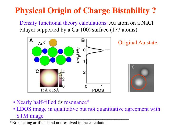 Physical Origin of Charge Bistability ?
