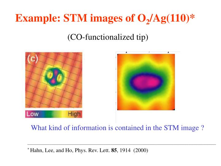 Example: STM images of O