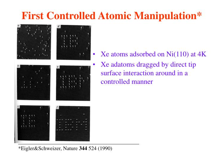 First Controlled Atomic Manipulation*