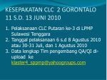 kesepakatan clc 2 gorontalo 11 s d 13 juni 2010