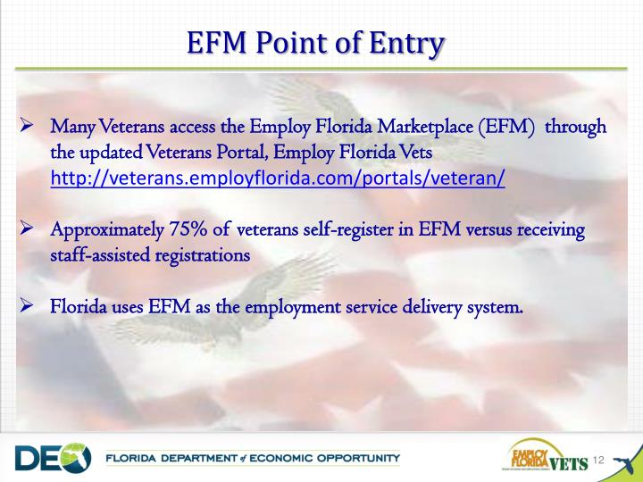 EFM Point of Entry