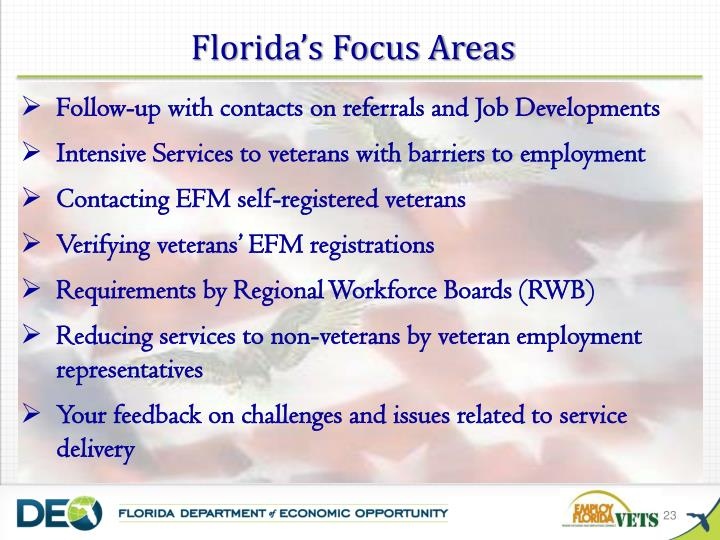 Florida's Focus Areas